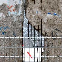 Berlin Wall through a grid